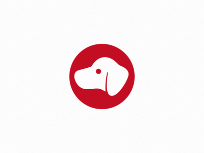 A Dog comfort golden retriever onlyoly red dog logo illustrator