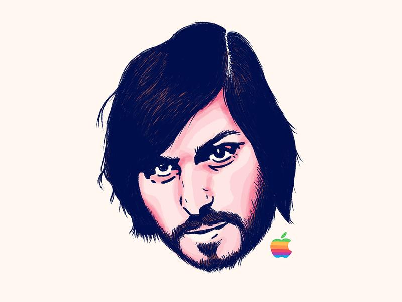 Young Steve Jobs computer ios iphone technology tech steve jobs steve sketch procreate portrait mac leader jobs illustration head drawing draper dan ceo apple