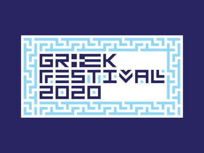 Greek Festival Badge Option 1