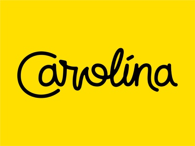 Carolina Script Option 1 type design dan draper monoline design cursive type typography vector logo mark word wordmark font lettering state typeface script south north carolina
