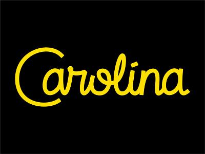 Carolina Script Option 2 type design dan draper monoline design cursive type typography vector logo mark word wordmark font lettering state typeface script south north carolina
