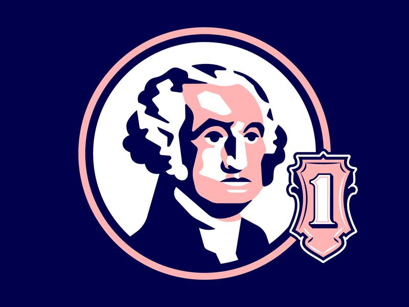 George Washington george washington president general america united states dollar one leader revolution war constitution independence capitol white house illustration vector money procreate