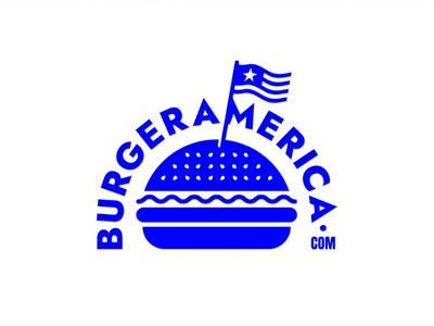 Burger America Logo Animation design motion vector after effects logo brand animation dinner restaurant hamburger food nation patriot flag site website internet dot com america burger