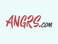 Angrs.com Logo Concept 1 brand wordmark custom typography type script emotion feeling mad angrs angry anger name online internet site web url domain logo