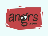 Angrs.com Logo Concept 2 brand wordmark custom typography type script emotion feeling mad angrs angry anger name online internet site web url domain logo