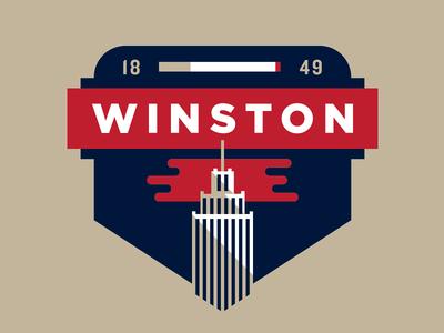 Winston Badge city triad badge dash dash city north carolina nc winston-salem tobacco reynolds salem winston