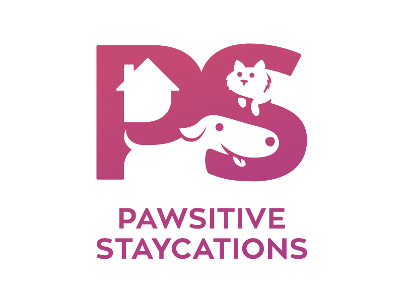 Pet Sitting Company Logo space identity ground figure pet sitter pet house cat dog negative brand logo