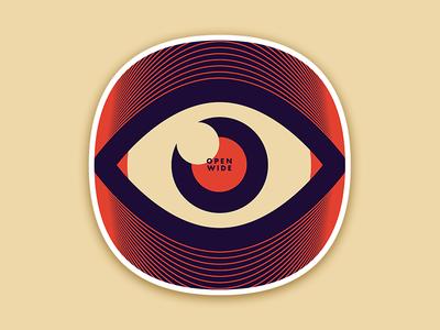 Open Wide Sticker