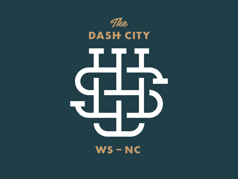 Dash City interlocking futura monogram piedmont north carolina city camel dash salem winston