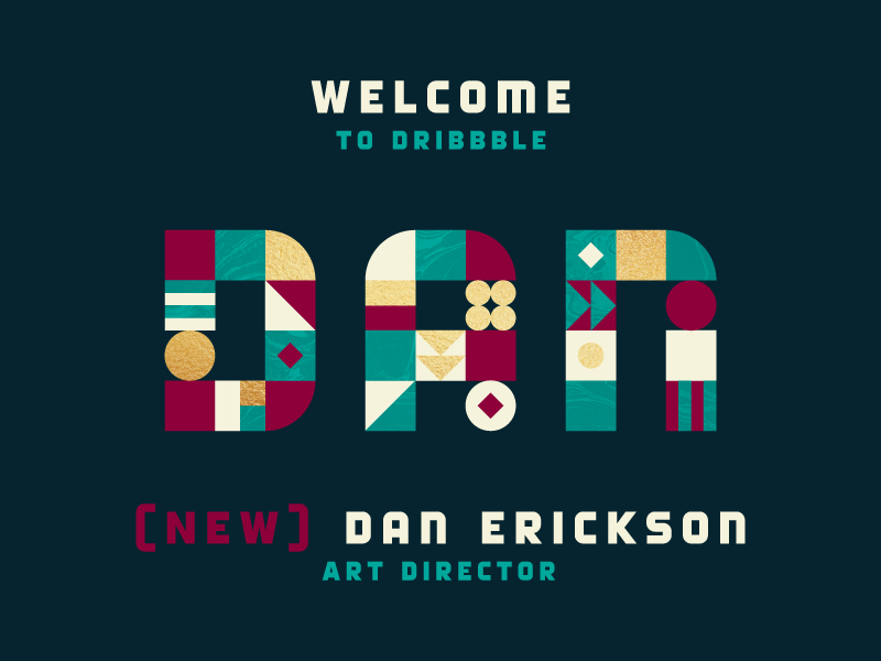 Welcome Dan Erickson! foil gold draft art director variable the variable abstract lettering texture color erickson dan