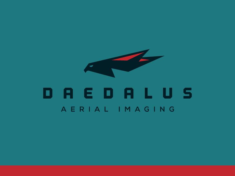 Daedalus Logo Concept 1 plane robot image imaging aerial video camera falcon bird fly drone daedalus