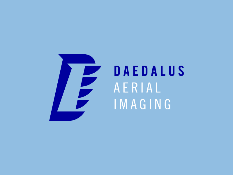 Daedalus Logo Concept 2 daedalus drone fly wing camera video aerial imaging image d letter plane