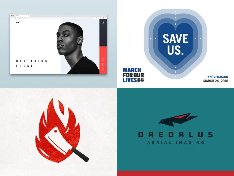 2018 hawk drone eagle bird fire butcher steak bbq march for our lives nike political poster illustration logo branding web design