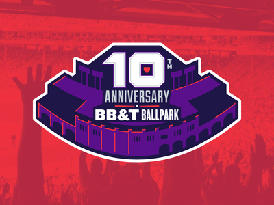 BB&T Ballpark 10th Anniversary Badge Concept 1