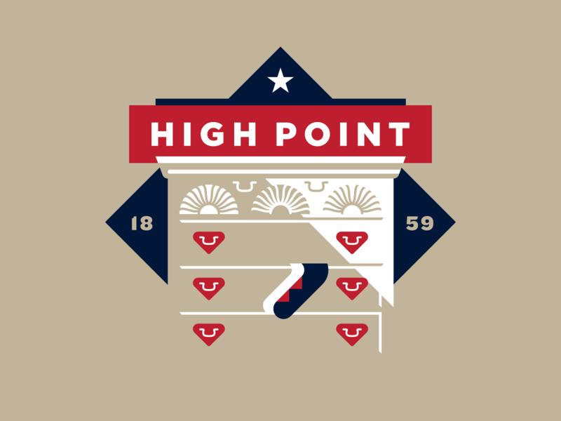 High Point Badge capital illustration vector dresser armoire chest socks drawers furniture high point triad north carolina nc city badge