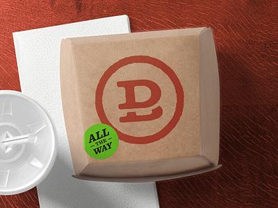 Dale's Burgers Badge monogram badge logo type restaurant brand branding burger grill fries french fries fast food food dale rough vector