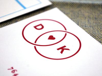 D + K Logo (in the flesh)