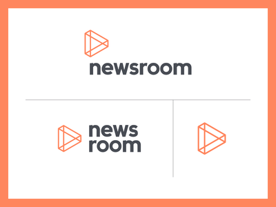 Newsroom Identity Concept the variable agency advertising content social video studio production logo brand identity room news newsroom