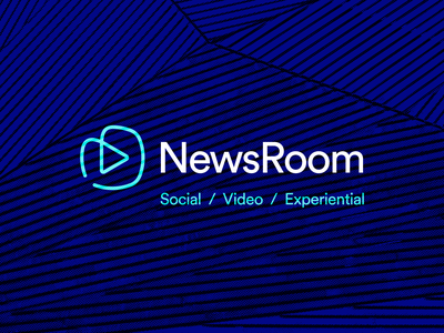 Newsroom Identity Concept 2 video the variable studio social room production newsroom news logo content identity brand agency advertising