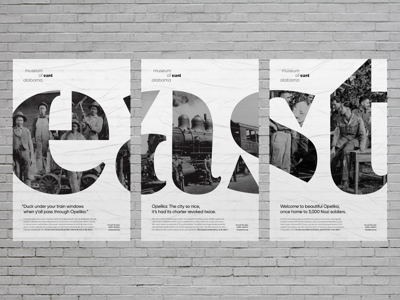 MoEA Hero Posters history local advertisement paste wheat ad flyer poster east alabama auburn opelika design wordmark exhibit museum identity rebrand brand logo