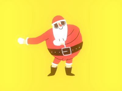 Santa doing The Floss