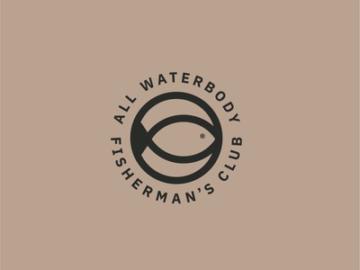 All Waterbody Fisherman's Club concept simple logo fishing branding club