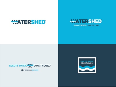 Watershed corporate social responsibility agriculture water lockup icon brand logotype logo