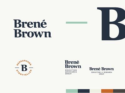 Brené Brown Rebrand brené brown modified influencer author pf din georgia wordmark logotype rebrand