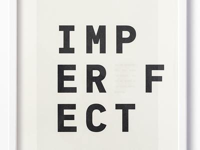 Brené Brown Imperfect DesignHaus Art Print