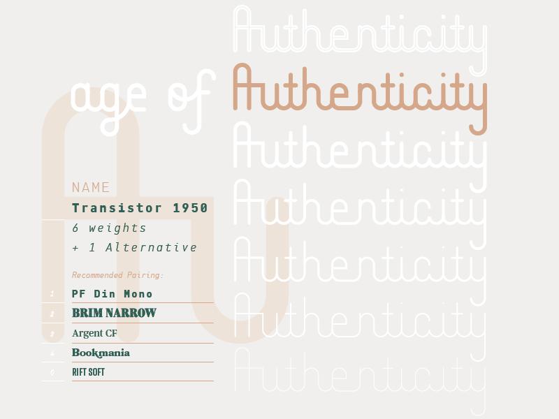 Transistor 1950 Typeface 01 by Jason Courtney on Dribbble