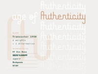 Transistor 1950 Typeface 01