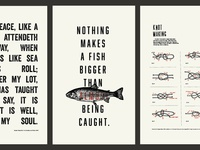 Posters for fishing cabin