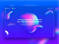 Landing Page: Unbounce + Digitalks (Interactive Blob)