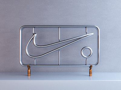Nike swoosh technology illustration design logo swoosh cinema4d 3d