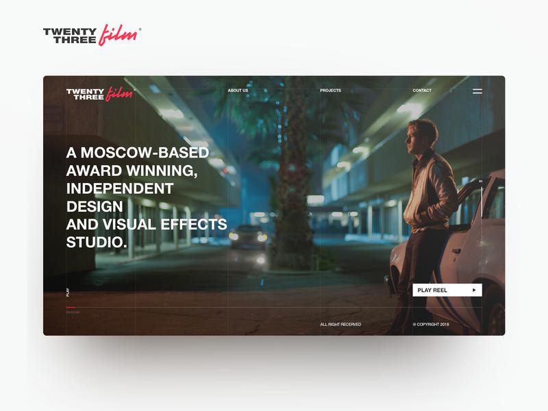 Film company -02 WEB DESIGN SHOT drive logo clear ui design архитектура technology logotype awwwards