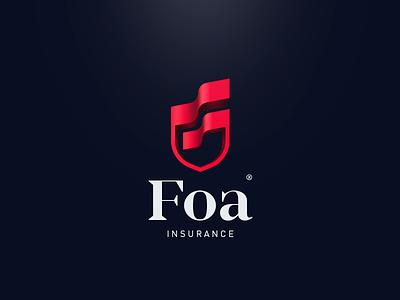 Foa дизайн insurance очистить logotype лого