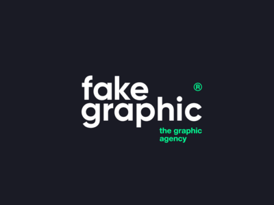 thisfakegraphic® graphic agency green black gradient branding лого typography logo design awwwards technology clear logotype