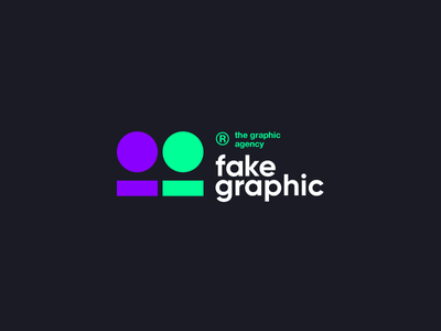 thisfakegraphic® graphic agency branding tech purple green black лого typography logo design awwwards clear logotype