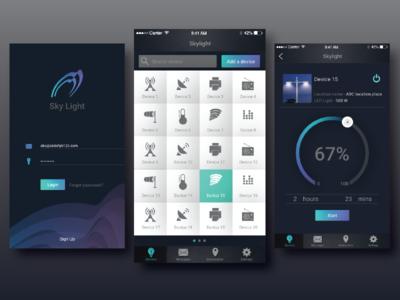 Smart app for your appliances household smartapp lights censors design ux ui mobile