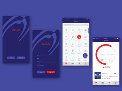 Smart app for the city led lights street lights city smartapp lights censors design ux ui mobile