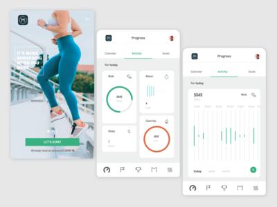 Manulife move fitness app fitness mobile goals exercise insurance app insurance company fitnessapp ux ui daily censors