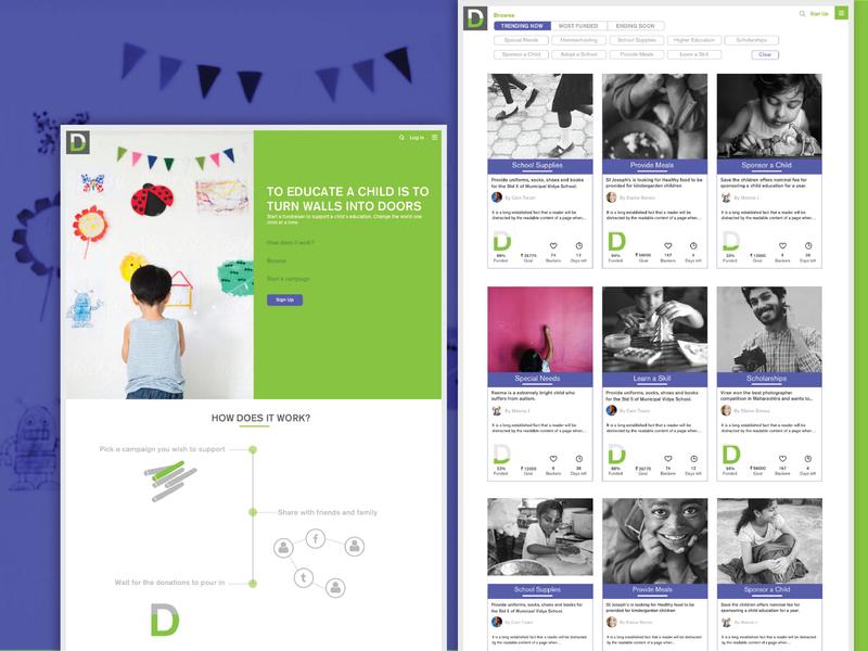 Dena - Crowdfunding website infographics userinterface user experience education branding concept branding design crowdfunding education crowdfunding campaign crowdfunding website design website dena