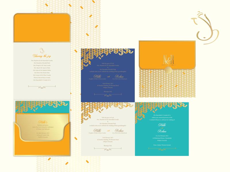 Screen printed wedding invitation colour palette layout design screen printing pattern design illustration graphicdesign typogaphy wedding invite design wedding invitation