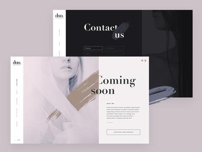 DUO Managment website design fashion splash pink ui webdesign elegant minimal pastel agency model