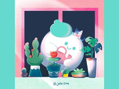 Hello day illustration illustrations illustration art jello