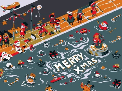Card: Merry Xmas card merrychristmas 聖誕節 drawingart illustration art