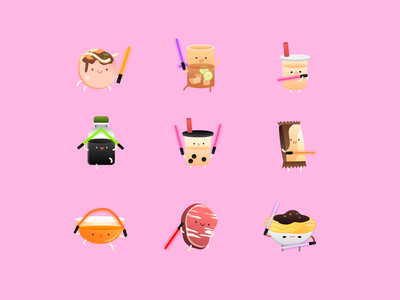 Food charater funny cute food and drink food vector