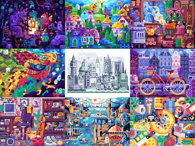 The Best Nine of 2020 illustration flat design best shots best of 2020 best nine best 9 top nine top 9 best design best shot