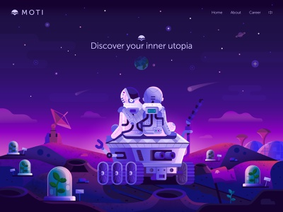 Mission to Mars human mission illustration colonisation astronaut spaceman moonrover moonwalker moon web banner ui illustration concept web flat design discover travel mars expedition exploring space