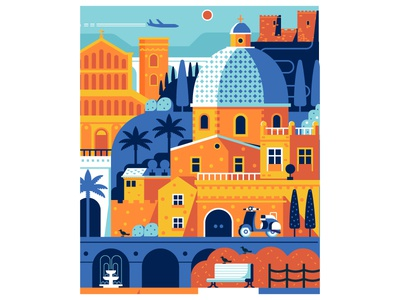Sardinia Travel Poster sardinia cagliari card mediterranean vacation summer flat design poster travel